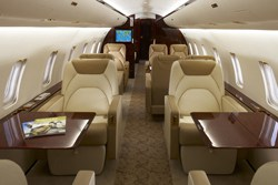 CRJ200 Private Charter Jet Interior Main Cabin