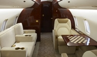 CRJ200 Private Charter Jet Interior Aft View